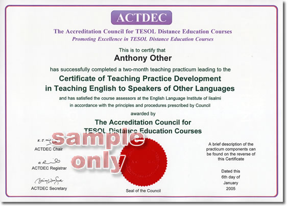 Teaching Practice Development Certificate