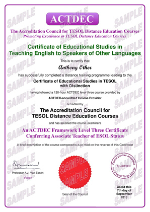 Level Three Certificate