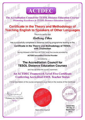 Level Five Certificate